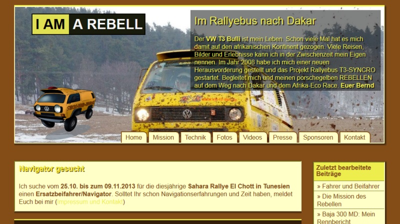 Homepage Ralleybus der Rebell