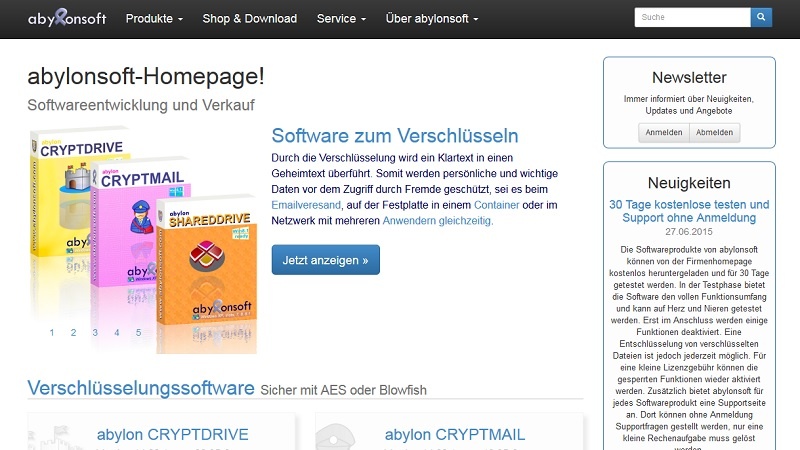 Homepage abylonsoft - Software und Hardware
